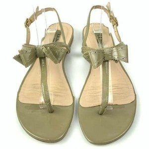 LK Bennett sandals 37.5 6.5 taupe patent leather